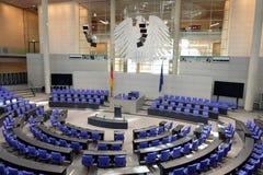 Binnen het Bundestag Parlement Berlin Germany royalty-vrije stock afbeelding