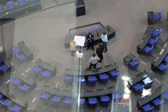 Binnen het Bundestag Parlement Berlin Germany royalty-vrije stock fotografie
