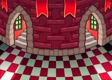 Binnen het kasteel. vector illustratie