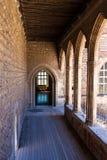 Binnen het kasteel van de de 13de eeuwcitadel in Frankrijk Royalty-vrije Stock Afbeeldingen