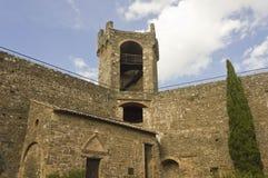 Binnen het Montalcino-Kasteel stock afbeeldingen