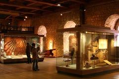 Mensen in museum Stock Foto