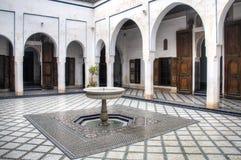 Binnen het paleis van Bahia in Marrakech, Marokko Royalty-vrije Stock Fotografie