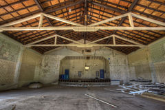 Binnen het theater van Fort Sherman. Stock Afbeelding