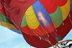 Binnen hete luchtballon Royalty-vrije Stock Foto's