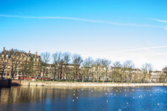 BinnenHof lake in Den Haag. Den Haag lake of BinnenHof palace Royalty Free Stock Photo