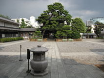 Binnen Japanse Boeddhistische tempelwerf Royalty-vrije Stock Afbeelding