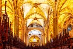 Binnen kathedraal Royalty-vrije Stock Foto's