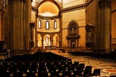 Binnen Kathedraal van Florence Stock Afbeeldingen