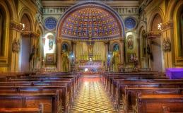 Binnen kerk Stock Afbeeldingen