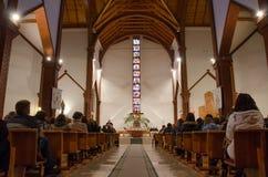 Binnen kerk Stock Afbeelding