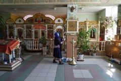 Binnen kerk Royalty-vrije Stock Foto's