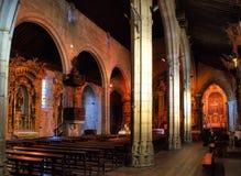 Binnen kerk Matriz van Vila do Conde Stock Foto's