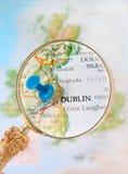 Binnen kijkend op Dublin, Ierland Stock Foto's