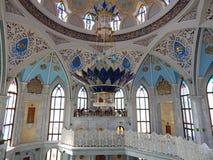 Binnen Kol Sharif Mosque in Kazan het Kremlin in de republiek Tatarstan in Rusland Royalty-vrije Stock Foto