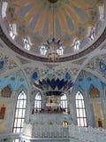Binnen Kol Sharif Mosque in Kazan het Kremlin in de republiek Tatarstan in Rusland Royalty-vrije Stock Foto's
