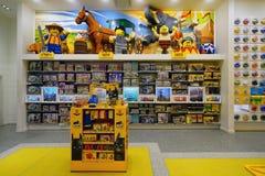 Binnen Lego Store in Rockefeller-Centrum in de Stad van New York Stock Fotografie