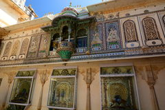 Binnen mening Stad Palace Udaipur Rajasthan India Stock Afbeelding