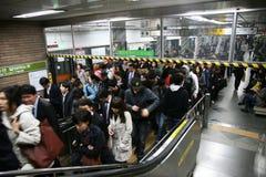 Binnen mening van de Metropolitaanse Metro van Seoel Royalty-vrije Stock Afbeelding