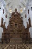 Binnen mening van Kerk van St Cajetan. Stock Fotografie