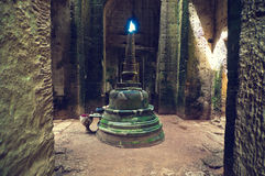 Binnen mening van Som van Ta tempel. Angkor Wat Royalty-vrije Stock Fotografie