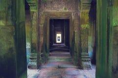 Binnen mening van Som van Ta tempel. Angkor Wat Stock Foto