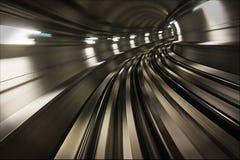 Binnen Metro van Doubai Tunnel Royalty-vrije Stock Afbeeldingen