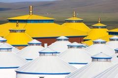 Binnen Mongolië Yurt Stock Foto