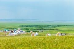 Binnen Mongolië Yurt Stock Foto's