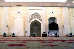 Binnen moskee royalty-vrije stock afbeelding