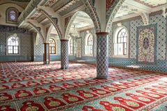 Binnen moskee Manavgat Stock Foto's
