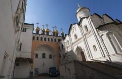 Binnen Moskou het Kremlin, Moskou, Russische federale stad, Russische Federatie, Rusland royalty-vrije stock foto