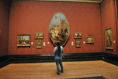 Binnen National Gallerymuseum in Londen, Engeland Stock Fotografie