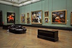 Binnen National Gallerymuseum in Londen, Engeland Stock Afbeelding