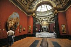 Binnen National Gallerymuseum in Londen, Engeland Royalty-vrije Stock Foto's