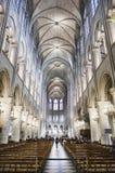 Binnen Notre Dame, Parijs royalty-vrije stock afbeelding