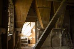 Binnen oude molen Stock Foto