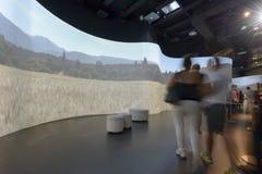 Binnen pavillion van Argentinië #05, EXPO 2015 Milaan Stock Afbeeldingen