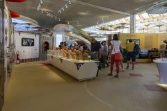 Binnen pavillion van China, EXPO 2015 Milaan Stock Foto's