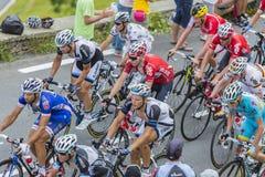 Binnen Peloton Gruppetto - Ronde van Frankrijk 2017 Royalty-vrije Stock Foto