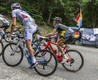 Binnen Peloton - Ronde van Frankrijk 2017 royalty-vrije stock afbeelding