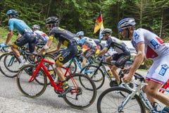 Binnen Peloton - Ronde van Frankrijk 2017 Royalty-vrije Stock Foto
