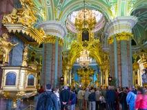 Binnen Peter en Paul Cathedral in St. Petersburg Royalty-vrije Stock Afbeeldingen