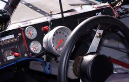 Binnen Raceauto stock foto