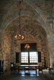 Binnen Rhodos kasteel Royalty-vrije Stock Afbeeldingen