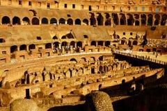 Binnen Roman Colosseum Royalty-vrije Stock Fotografie