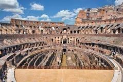 Binnen Roman Colosseum Stock Foto's