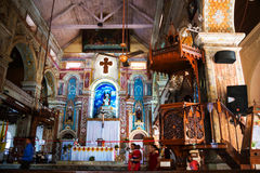Binnen Santa Cruz Cathedral in Fort Cochin, India royalty-vrije stock afbeeldingen