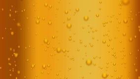 Binnen schot van bier het borrelen stock footage