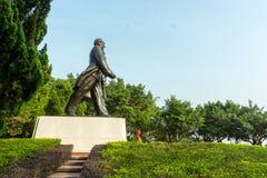 Binnen shenzhen het Deng xiaoping standbeeld van lianhuaberg Stock Foto's